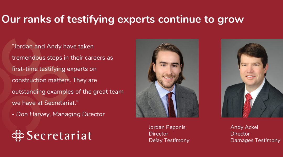 Our Ranks of Testifying Experts Continue to Grow