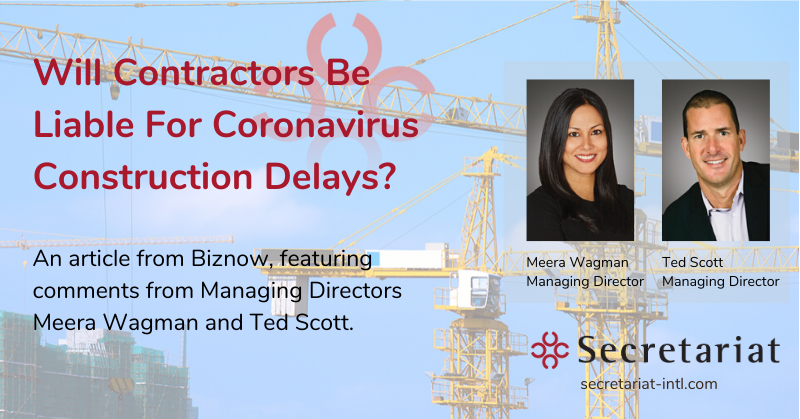 Will Contractors Be Liable for Coronavirus Construction Delays?