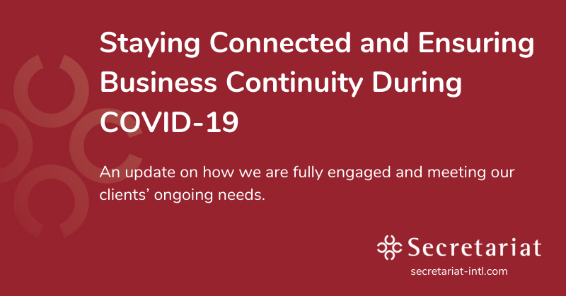 Staying Connected and Ensuring Business Continuity During COVID-19