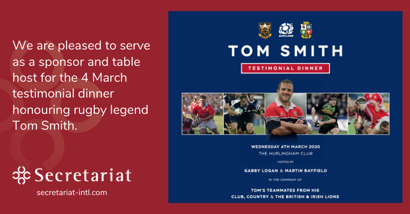 Tom Smith's Rugby Sponsorship Dinner