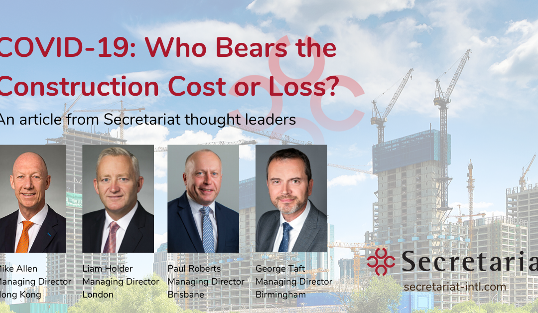 COVID-19: Who Bears the Construction Cost or Loss?
