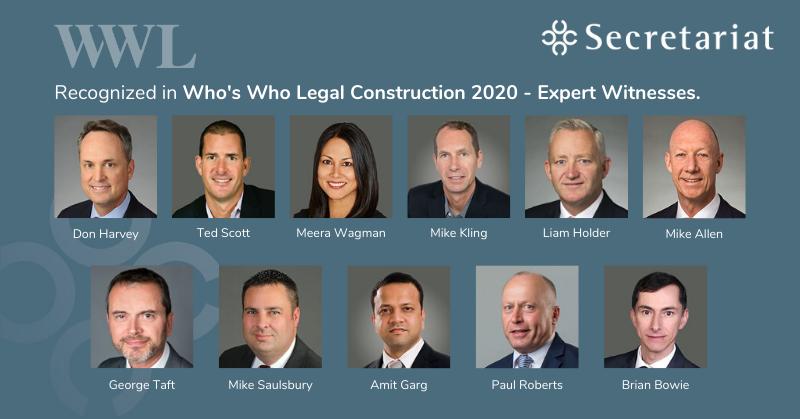 CONSTRUCTION 2020 – EXPERT WITNESS
