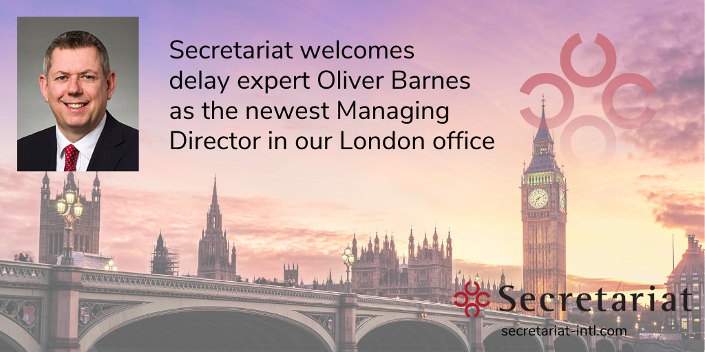 Secretariat Welcomes Delay Expert Oliver Barnes