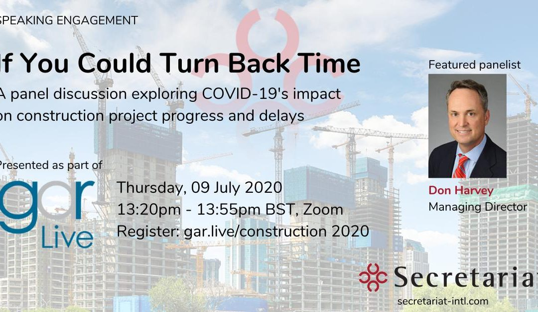 COVID -19's Impact on Construction GAR Live Speaking Engagement