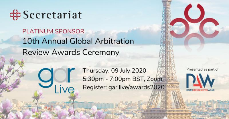 10th AnnualGlobal Arbitration ReviewAwards Ceremony