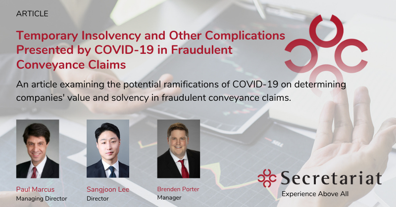 COVID-19 in Fraudulent Conveyance Claims