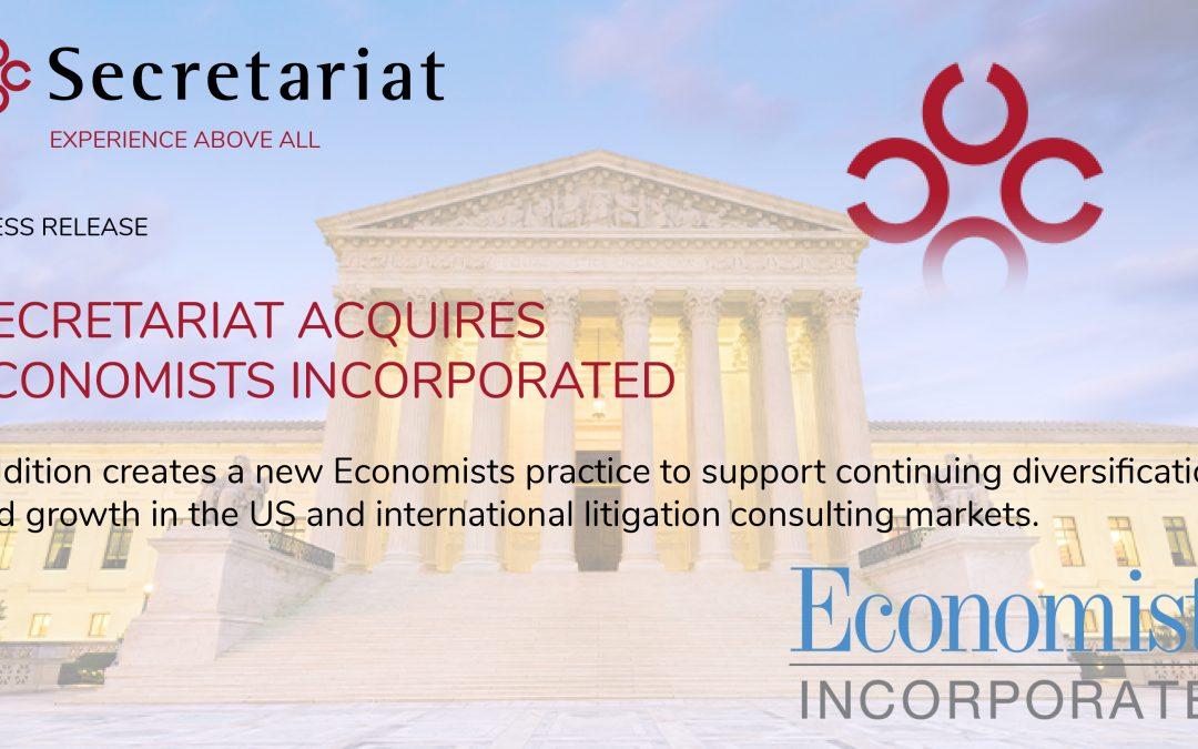 Secretariat Acquires Economists Incorporated