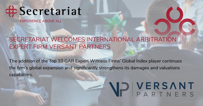 Secretariat Welcomes Versant Partners